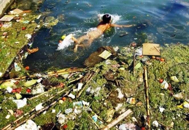 Imagens alarmantes mostrando os níveis de poluição na China