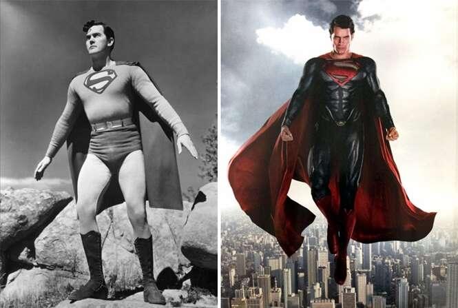 Antes e depois de super-heróis famosos