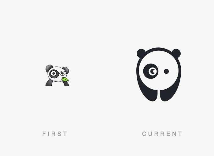 Antes e depois de logomarcas famosas