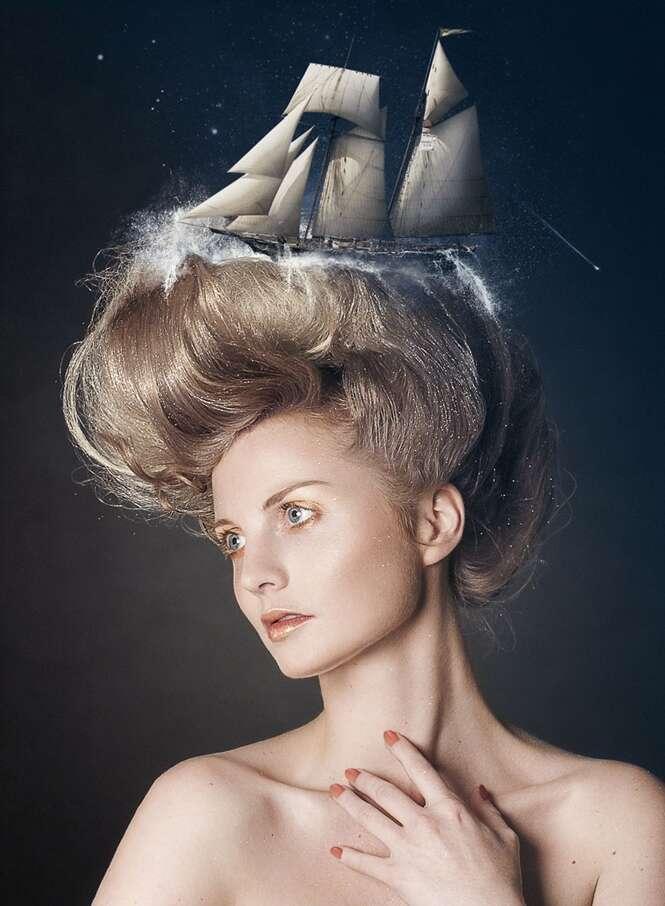 Artistas retratam sonhos de pessoas em fotos surrealistas