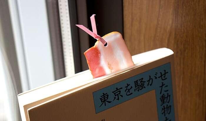 Marcadores de livro em formatos de comidas japonesas