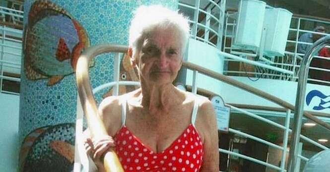 Idosa de 90 anos posa de biquíni para provar que beleza não tem idade