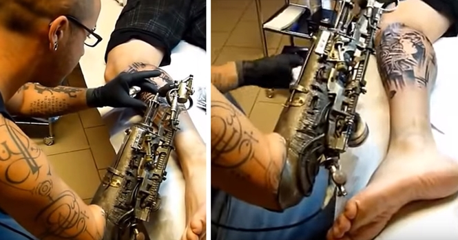 Tatuador que perdeu o braço usa primeira prótese tatuadora do mundo