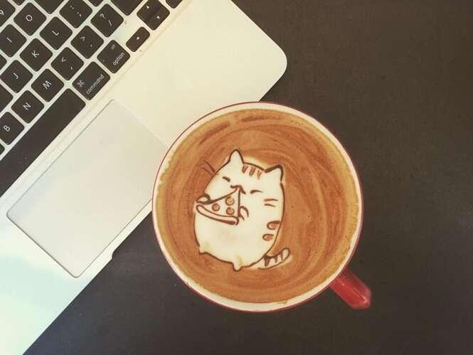 Artista descobre talento em criar arte em café graças a amigo
