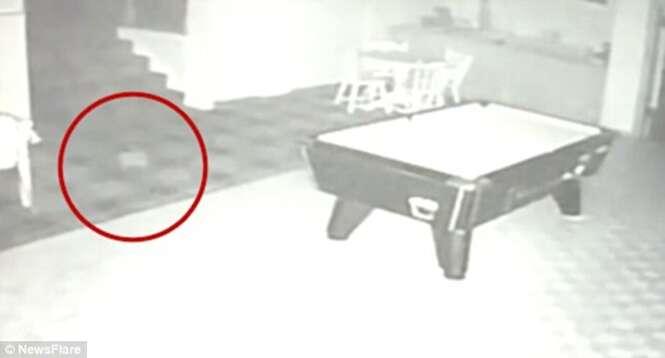 Câmera de segurança em hotel filma momento em que esfera misteriosa surge em sala vazia