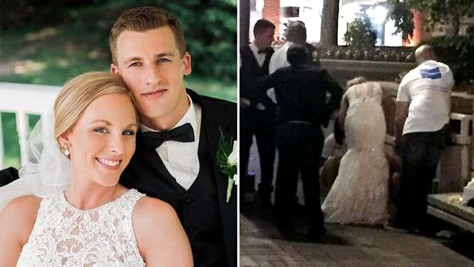 Enfermeira recém-casada ajuda em resgate ainda vestida de noiva