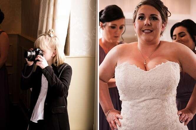 Fotógrafa de 9 anos é requisitada para fazer casamentos