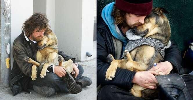 Cães fiéis que não abandonaram seus donos nem nas piores situações