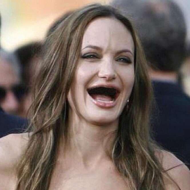 Fotos divertidas de famosos que parecem não ter dentes