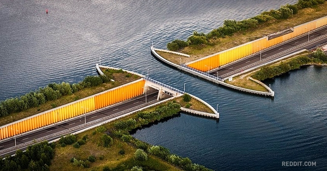 Holandeses constroem ponte subaquática que desafia as leis da física