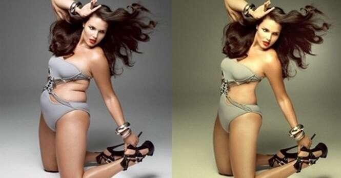 Fotos antes e depois de passarem pelo Photoshop