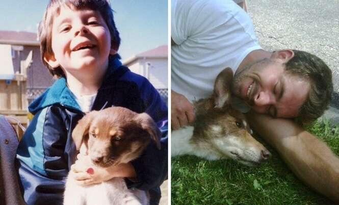 Primeiras e últimas fotos de animais de estimação