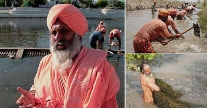 Este homem limpou um rio com as próprias mãos