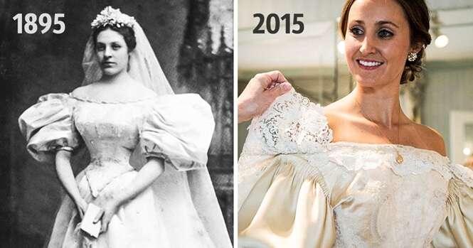 Este vestido de noiva já subiu ao altar em 10 casamentos na mesma família