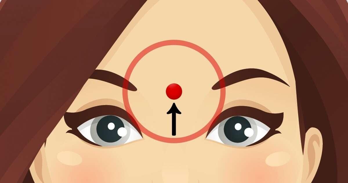 Você sabe o que acontece se massagear este ponto na sua testa?