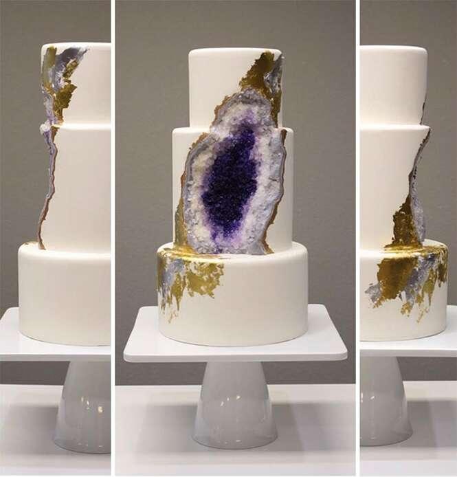 Bolos de casamento inspirado em formações rochosas