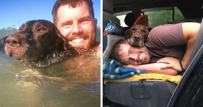 Dono leva cadela para incrível viagem de despedida após animal ser diagnosticado com câncer