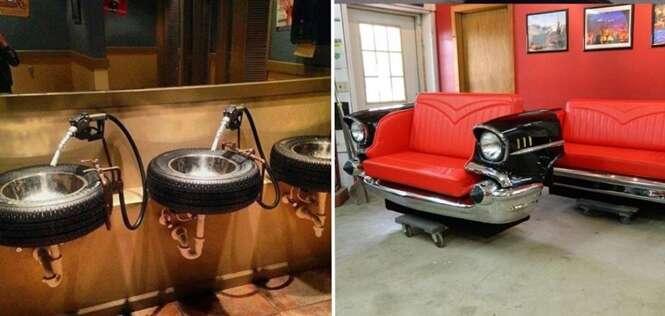 Ideias geniais que transformam carros antigos em lindas peças de decoração