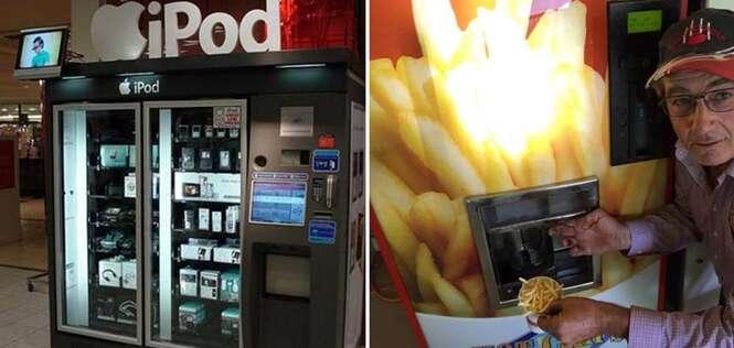 Máquinas de venda para comprar produtos inesperados