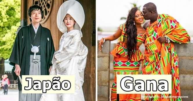 Como são os trajes tradicionais de casamento em várias partes do mundo