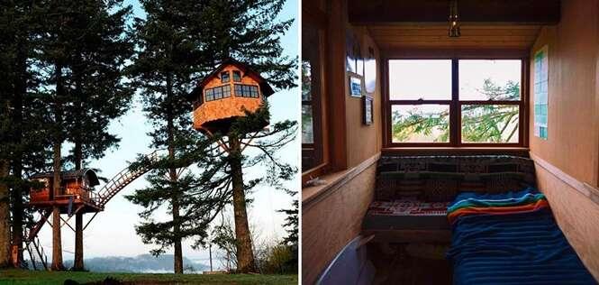 Homem abandona vida normal para realizar sonho de viver em casa da árvore
