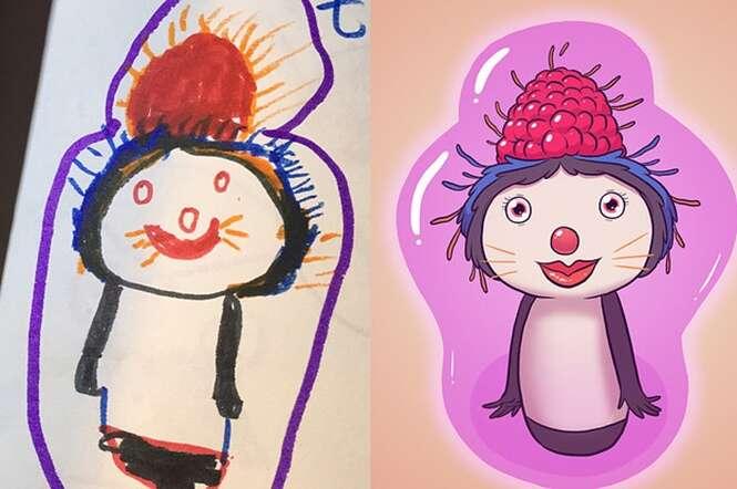Artista redesenha desenhos da infância e resultados são impressionantes