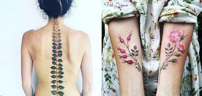 Tatuagens delicadíssimas que foram inspiradas na mudança das estações
