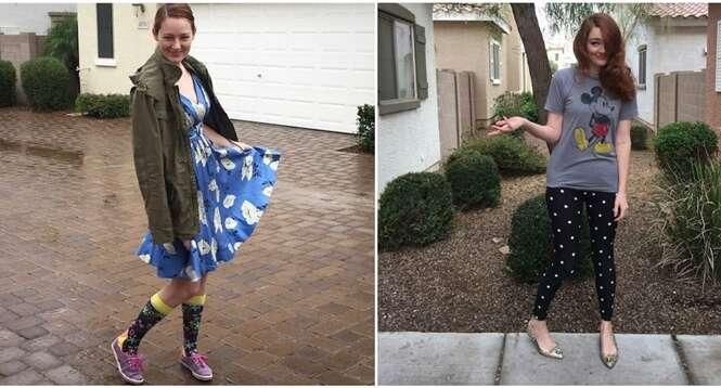 Mãe deixa filho de 3 anos escolher quais roupas ela deve usar durante uma semana