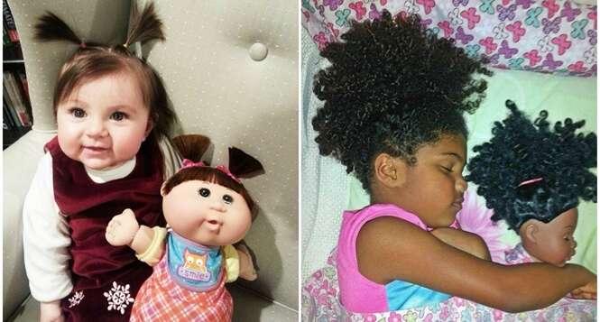 Crianças que são a cara de suas bonecas