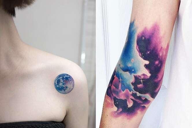 Tatuagens para quem ama o espaço