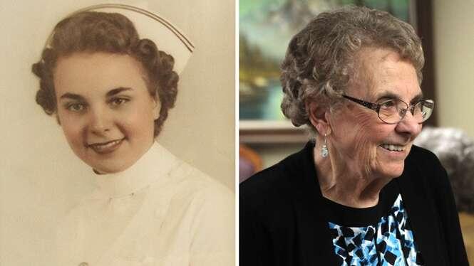 Enfermeira que trabalhou na Segunda Guerra Mundial se aposenta após 72 anos de serviço