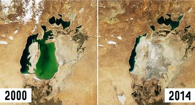 Série Antes e Depois da Terra em imagens da NASA