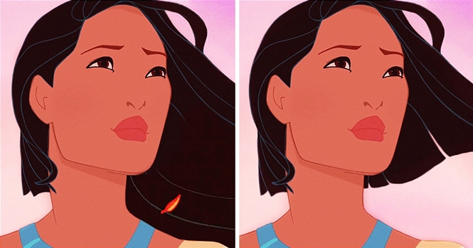 Ilustrações provando que o cabelo curto não combina com as princesas Disney