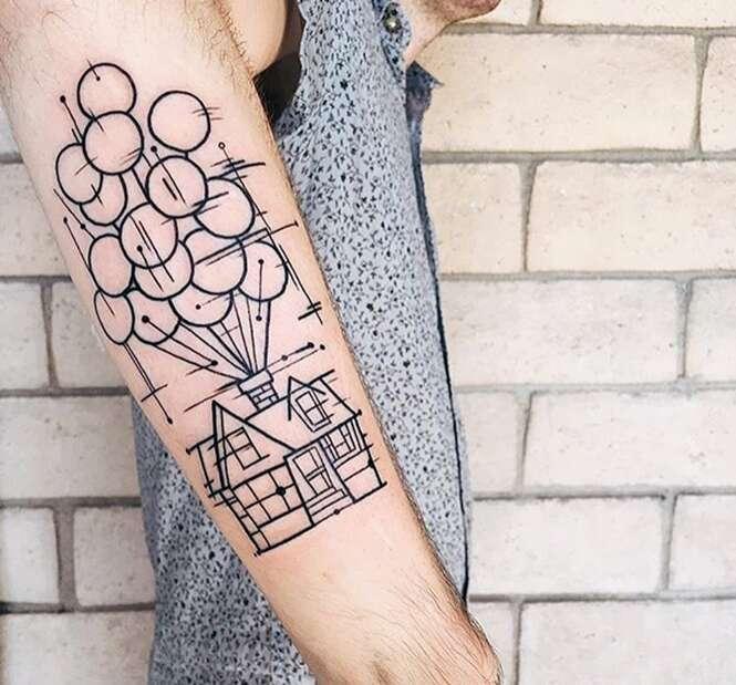 Tatuagens inspiradas em filmes de animação
