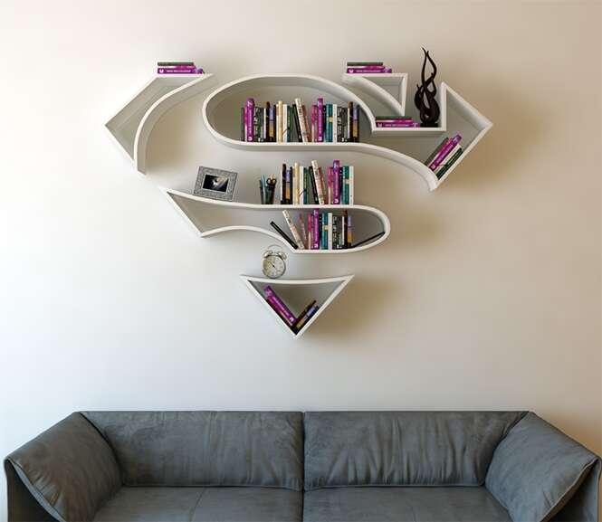 Artista cria prateleiras inspiradas em super-heróis