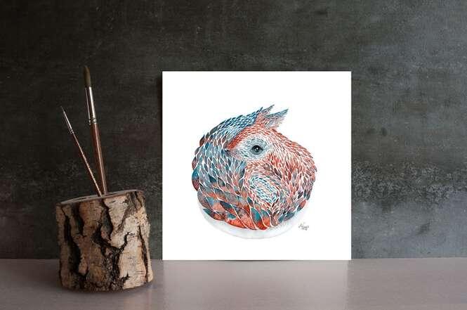 Artista cria pinturas detalhadas inspiradas em animais de florestas