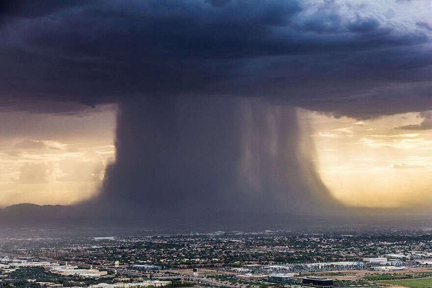 Fotógrafo registra imagem impressionante de tempestade