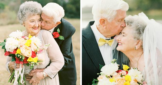 Idosos têm sessão de fotos mais doce que você já viu para comemorar os 63 anos de casamento