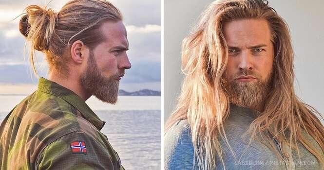 Este oficial da marinha é a cara do deus nórdico Thor