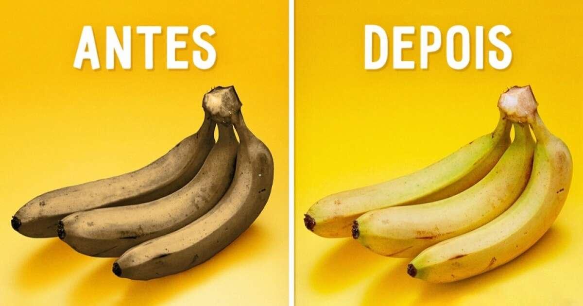 Este truque fantástico vai recuperar suas bananas passadas