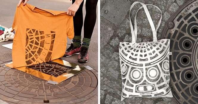 Artistas usam a rua para imprimir estampas em roupas e bolsas
