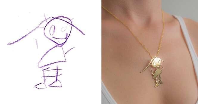 Desenhos infantis se tornam inspiração para criar joias fascinantes