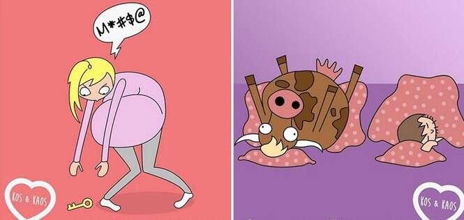Ilustrações sobre gravidez que só quem é mãe vai entender