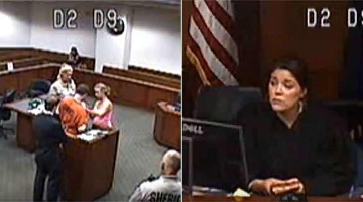 Tribunal vai às lágrimas após juíza permitir que preso visse seu filho bebê pela primeira vez