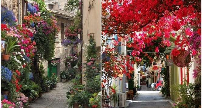 Ruas onde as cores se destacam na primavera