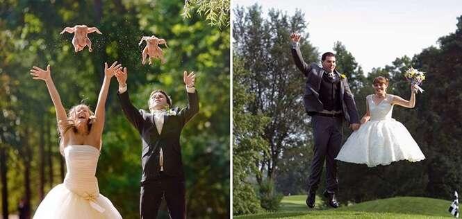 Fotos de casamento que não têm explicação
