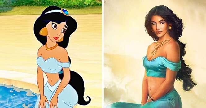 Como as princesas da Disney seriam em carne e osso
