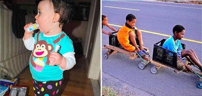 Fotos provando que as crianças das décadas passadas tiveram sorte de sobreviver