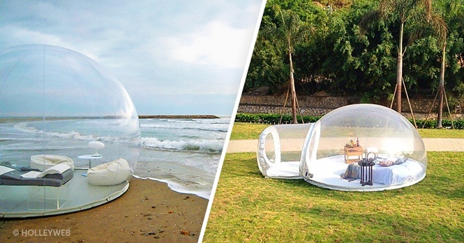 Esta incrível bolha transparente permite que você durma sob a luz das estrelas