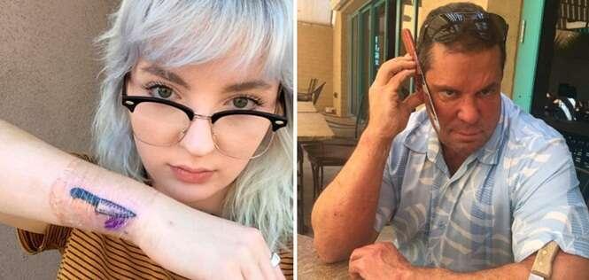 O pai dessa jovem reagiu da forma mais surpreendente após saber que ela fez uma tatuagem